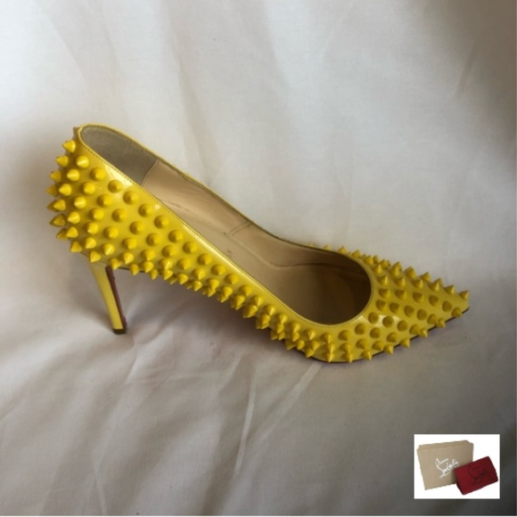 1e8445c46ad Yellow Pigalle Spiked Pumps (EUR 39)